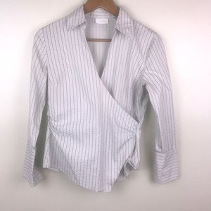 NEW YORK & COMPANY Crossbody Long Sleeve Blouse